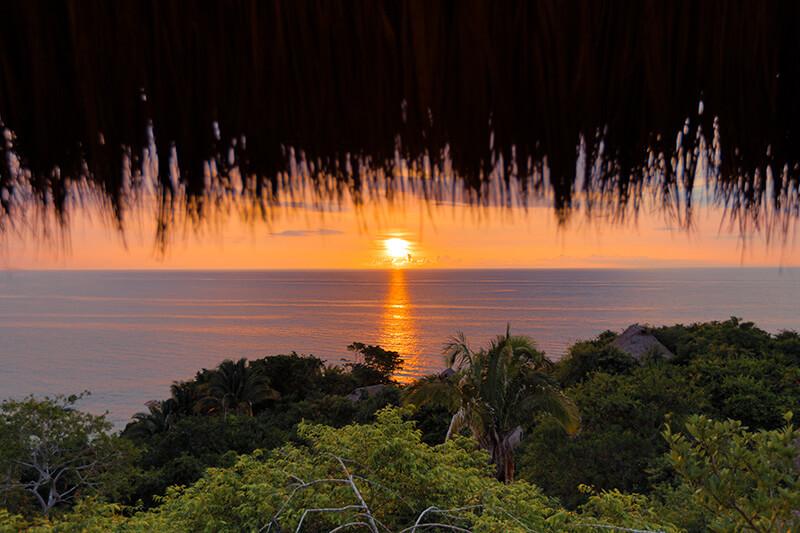 sunset at pacific coast