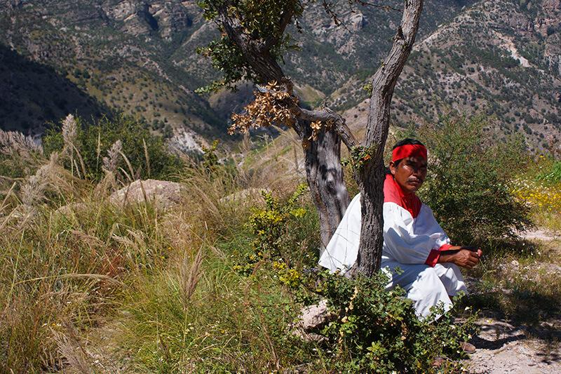 tarahumara man in the shade